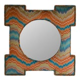 Image of Scalamandre for vanCollier Bram Mirror For Sale