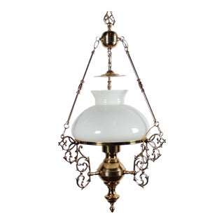 Arabian Motif Brass Chandelier For Sale