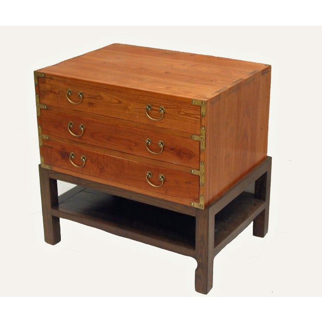 Asian Elmwood Accent Table For Sale - Image 3 of 6