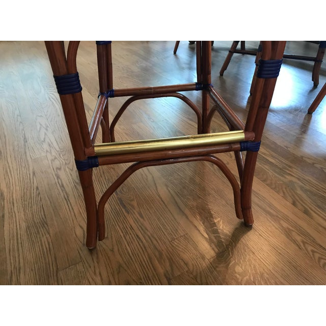 Howard Kaplan Bistro Counter Stools - Set of 3 For Sale In New York - Image 6 of 8