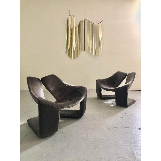 """Metal 1960s Vintage Space Age """"Zen"""" Lounge Chairs Designed by Kwok Hoi Chan for Steiner Paris For Sale - Image 7 of 7"""
