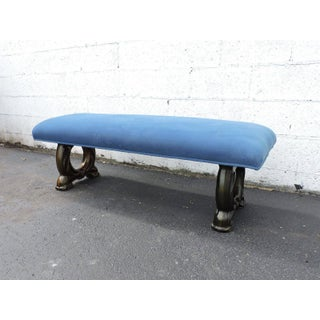 Long Vintage Upholstered Vanity Bed End Hallway Bench by Archlace Preview