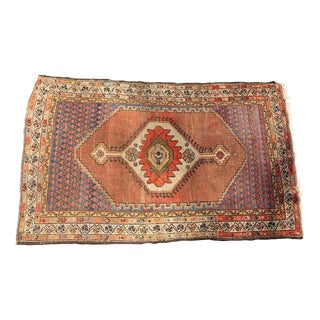 Floral Peach Pink Oriental Style Rug - 4′ × 6′ For Sale