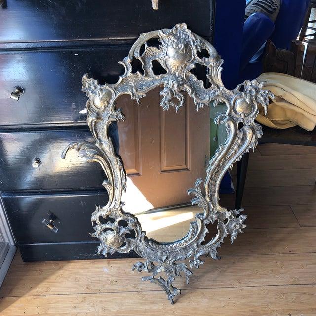1940s Vintage Portugal Art Nouveau Accent Mirror For Sale - Image 9 of 9