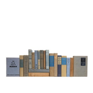 Vintage Khaki & Denim MIX - Twenty Decorative Books