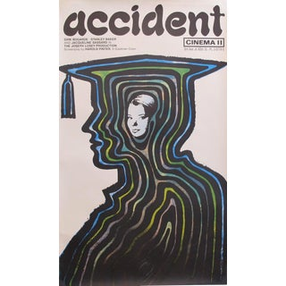 "1967 Original Vintage British Movie Poster, ""Accident"" by Stanislaw Zagorski For Sale"