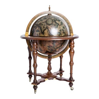 Antique Globe Bar Cabinet For Sale