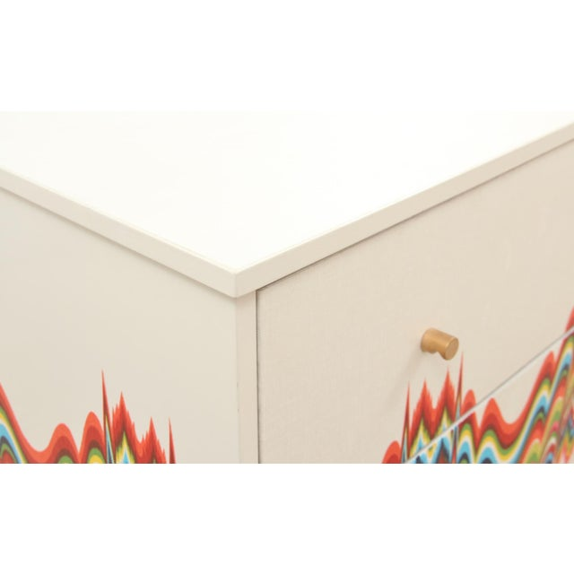 Mission Avenue Studio 1960s Boho Chic Dresser Wrapped in Technicolor Fabric For Sale - Image 4 of 8