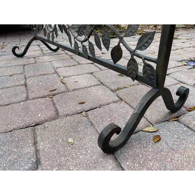 2000 - 2009 Wrought Iron Handmade Forged Metal Scroll Panel Screen Divider For Sale - Image 5 of 6