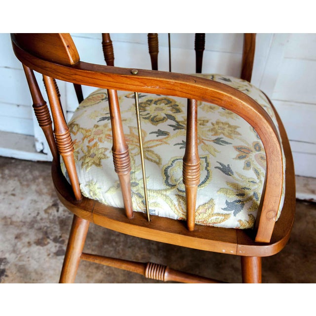 1950s Vintage Drexel Barrel Dining Office Accent Arm Chairs- Pair For Sale - Image 9 of 13