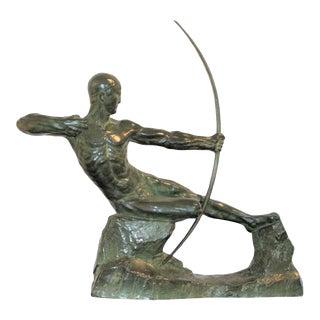 Vintage Art Deco 1925 Victor Demanet Sculpture Hercules the Archer in Bronze For Sale