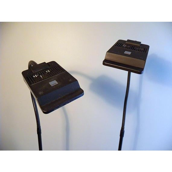 Vintage Modern Electrix Halogen Reading Library Floor Lamps - A Pair For Sale - Image 4 of 10