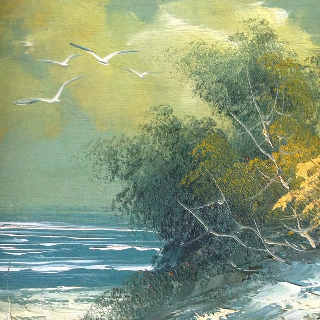 Vintage Oil on Board Seascape Painting - Image 6 of 11