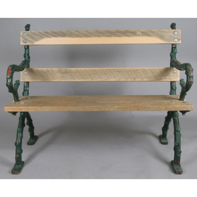 Early 20th Century Antique Cast Iron English Garden Bench For Sale In New York - Image 6 of 7