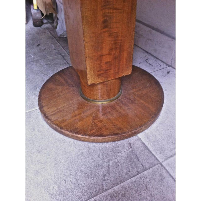 1920s Jules Leleu Signed Coffee Table With a Superb Marble Top For Sale - Image 5 of 6