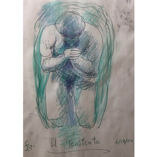 El Penitente Kneeling Male Nude by James Bone 1990s For Sale