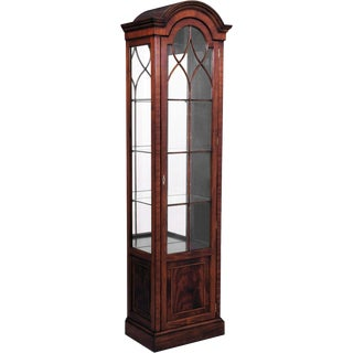 Scarborough House Handpaned Glass Display Cabinet For Sale
