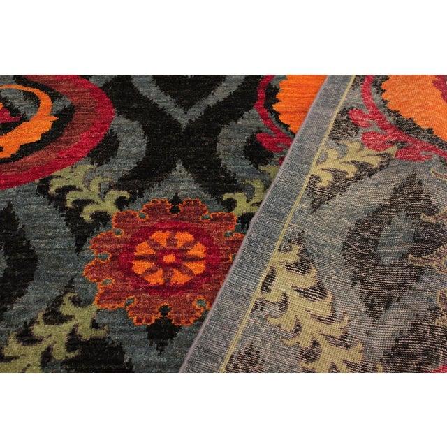 Kafkaz Peshawar Zack Gray/Blue Wool Rug - 7'10 X 10'3 For Sale In New York - Image 6 of 8