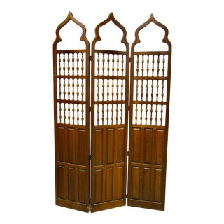 Morrocan-Style Wooden Folding Screen