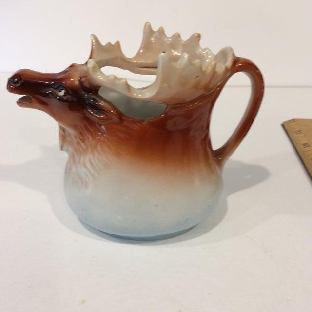 Lodge Vintage Porcelain Moose Creamer For Sale - Image 3 of 11