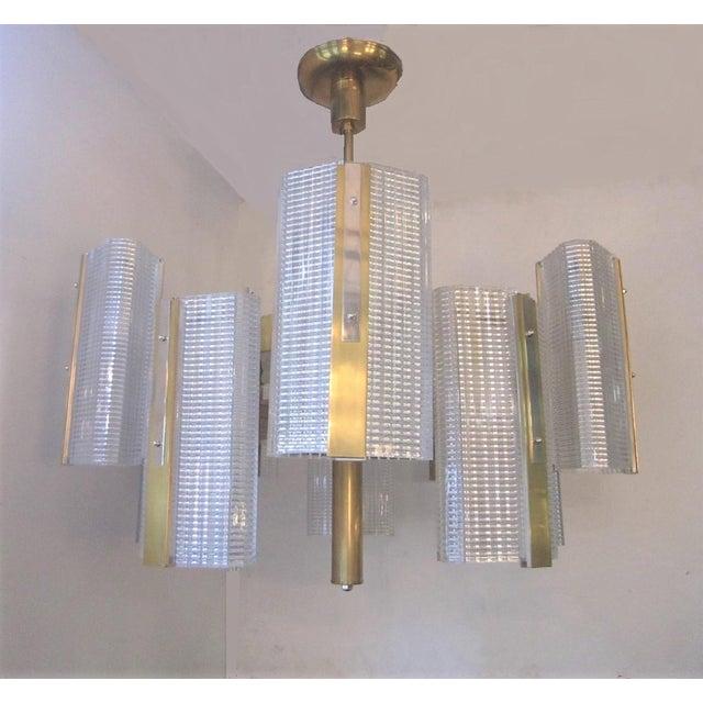 Kalmar Modernist Brass and Glass Ten-Arm Austrian Chandelier For Sale In New York - Image 6 of 12
