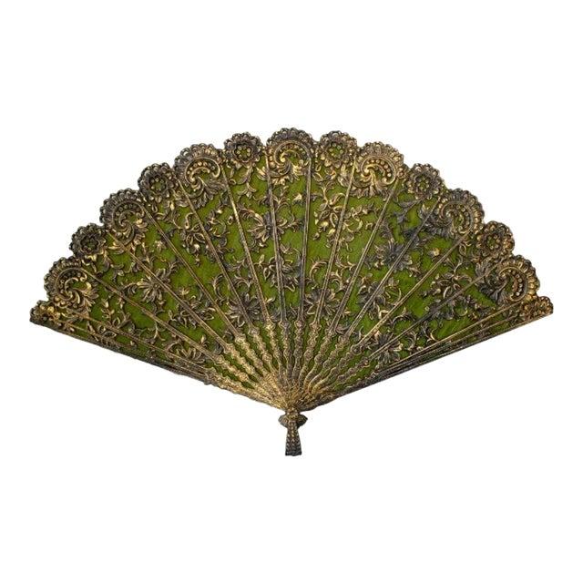 Vintage Ornate Filigree Fan Wall Decor | Chairish