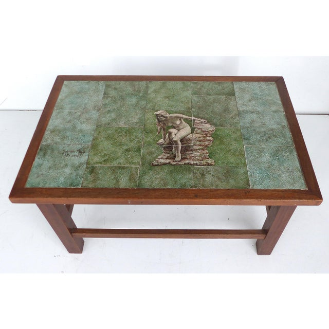 1940 Vintage Johannes Meyer Tile Top Table For Sale - Image 4 of 11
