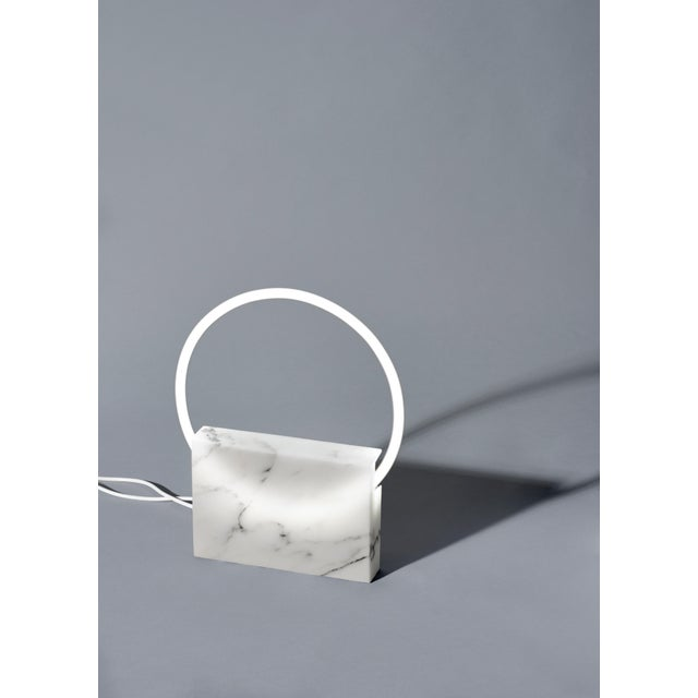 White Onyx Table Lamp, Sabine Marcelis For Sale - Image 8 of 10