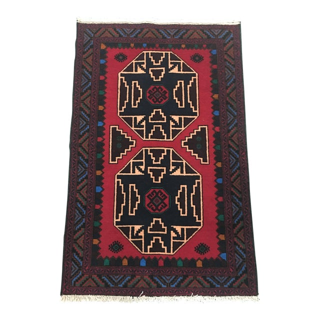 Oriental Hand-Knotted Wool Rug - 2′11″ × 4′6″ - Image 1 of 6