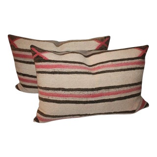 Faded Navajo Saddle Blanket Pillows For Sale