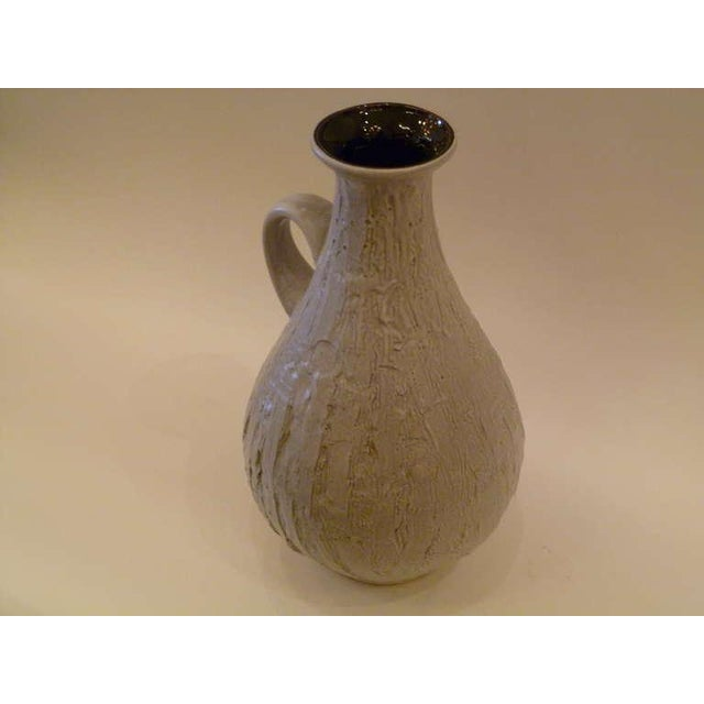 Large 50s Clemens & Huhn Textured German Pottery Mid Century Modern Krug Floor Vase - Image 3 of 9