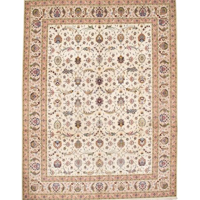 Pasargad Persian Tabriz Silk & Wool Rug - 10' X 13' For Sale