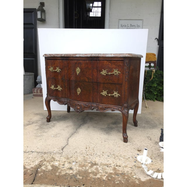 18th C. Continental Burl Walnut Commode - Image 4 of 6