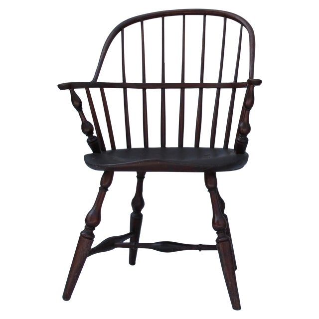 New England Bow-Back Windsor Arm Chair - Image 1 of 10