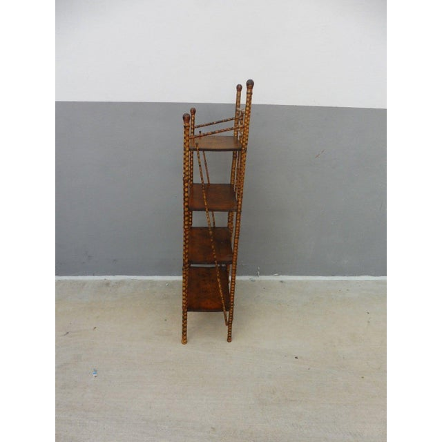 19th Century Victorian 4 Tier Bamboo Etagere For Sale - Image 4 of 10