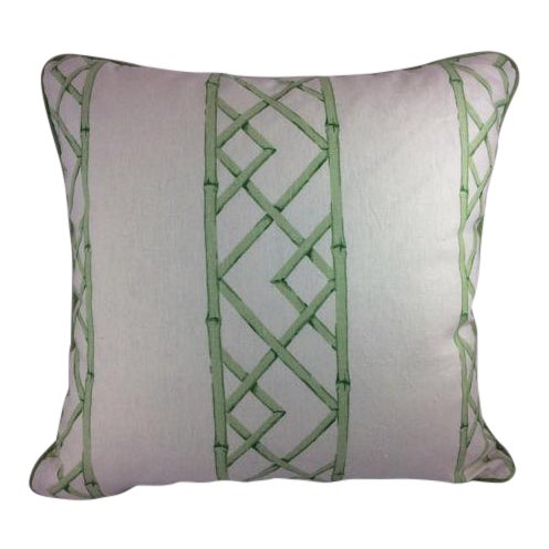 "Not Yet Made - Made To Order Sarah Richardson's ""Latticely"" in Jade Pillows - a Pair For Sale - Image 5 of 5"