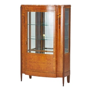 1930's French Art Deco Display Cabinet For Sale