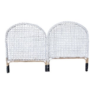 Vintage Wicker King Headboards - A Pair For Sale