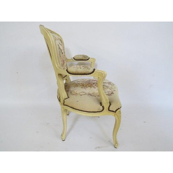French 1950's Louis XV Chair For Sale - Image 3 of 9
