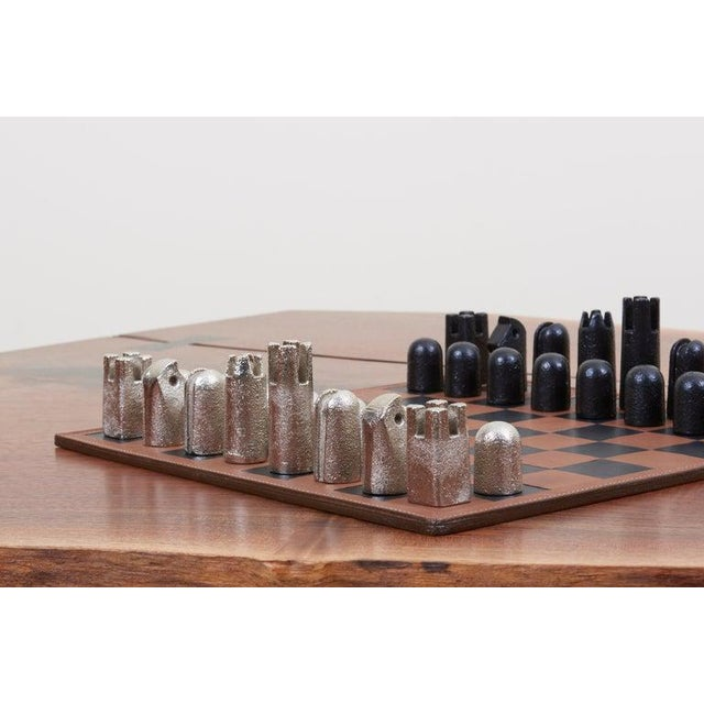 Metal Modernist Chess Set #5606 by Carl Auböck For Sale - Image 7 of 11