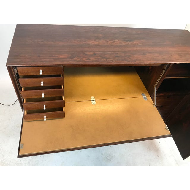 George Nelson Herman Miller Rosewood Thin Edge Desk For Sale In New York - Image 6 of 13