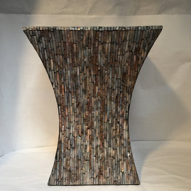 Abalone Shell Mosaic Table - Image 7 of 8