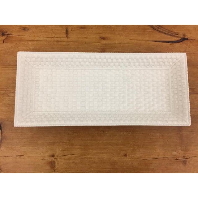 Tiffany & Co. weave bone china tray. Made in Ireland.