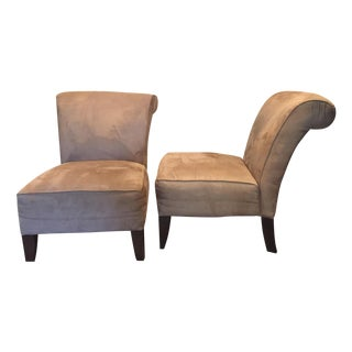 Scandinavian Slipper Chairs - A Pair