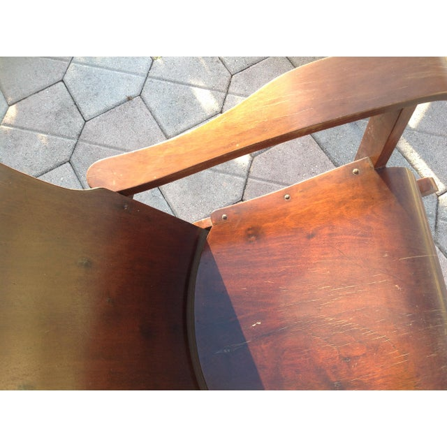 Móveis Cimo Brazil Wood Arm Chairs- A Pair For Sale - Image 6 of 9