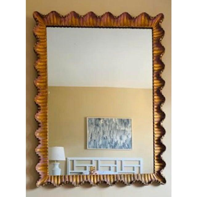 1950s Mid-Century Italian Regency Gilt Wood Mirror For Sale - Image 5 of 5