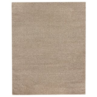 Sanz Flatweave Wool Beige Rug - 8'x10' For Sale
