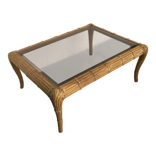 Vintage Art Deco Waterfall Coffee Table