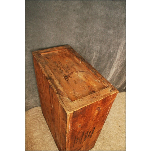 Vintage Industrial Wood Bookcase made from Underwood Typewriter Crates For Sale - Image 11 of 11