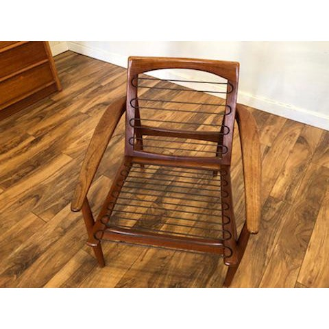 Grete Jalk Danish Teak Lounge Chair For Sale - Image 12 of 13